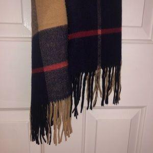 DIOR plaid scarf